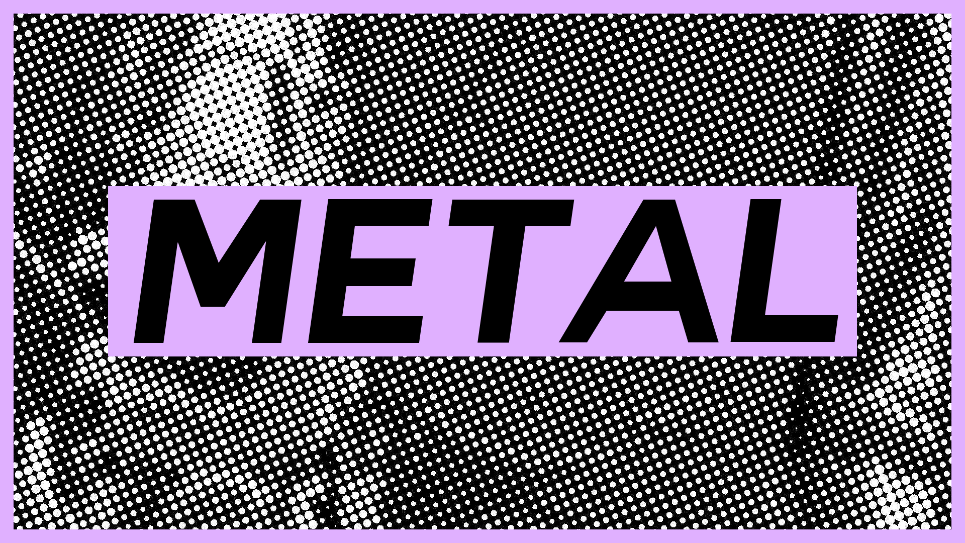 generated black and white image with the word METAL in bold font overlaid